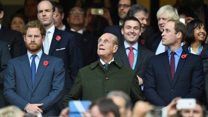 """""""Meghan, Archie y yo (así como tu futura bisnieta) siempre tendremos un lugar especial para ti en nuestros corazones"""", expresó el príncipe Harry en un comunicado sobre la muerta del duque de Edimburgo (Reuters)"""