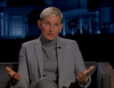 Negocio arriesgado: Ellen DeGeneres, de 63 años, le dijo a Jimmy Kimmel el martes que había tomado tres 'tragos de marihuana' antes de llevar a su esposa a la sala de emergencias, lo que enfureció a algunos usuarios de las redes sociales.