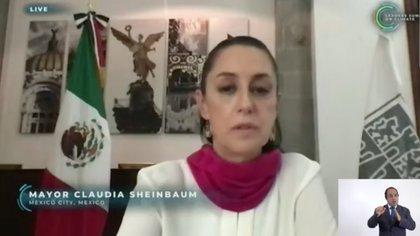 (Foto: captura de pantalla participación Claudia Sheinbaum en Cumbre Climática 2021)