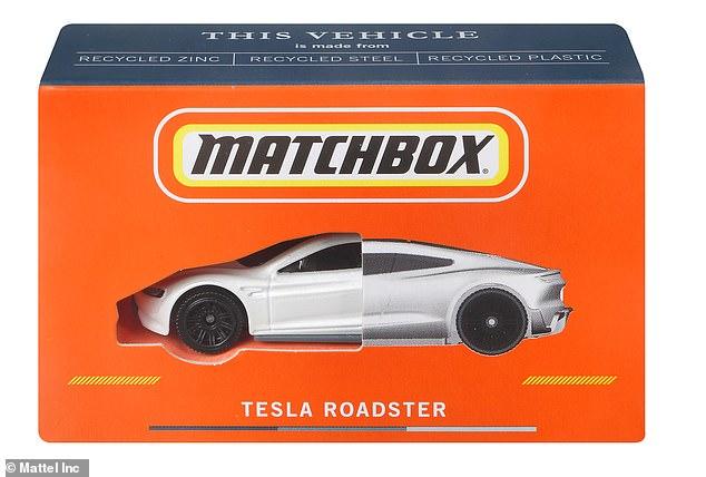Todos los coches, juegos y embalajes fundidos a presión de Matchbox estarán fabricados en un 100% con materiales reciclados para 2030, anunció el fabricante de juguetes Mattel.  En la imagen: el totalmente nuevo Matchbox Tesla Roadster, que está certificado como neutral en carbono y llegará a los estantes en 2022