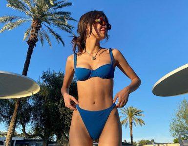 Listo para el verano: Olivia Rodrigo posó en bikini a principios de este mes antes de revelar su lista de canciones para el debut de su álbum de estudio el martes.