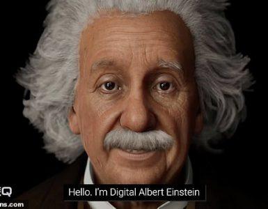 Digital Einstein fue desarrollado para ¿poner una cara amigable y conocida a la tecnología humana digital¿ la cara entre las máquinas y los humanos '