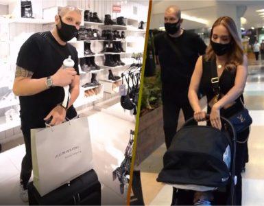 Luisa Fernanda de compras con su guardaespaldas