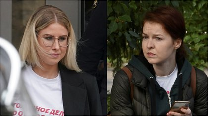 Las aliadas de Navalny Lyubov Sobol y Kira Yarmysh (Reuters/Infobae)