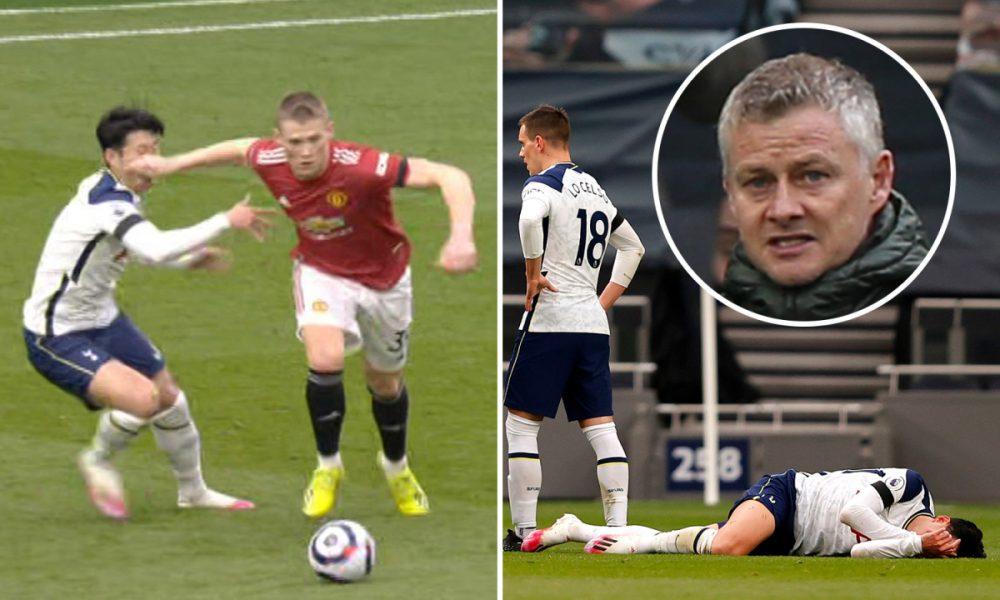 Solskjaer dice que 'el juego se ha ido' después de que no se permitiera el gol de Man Utd mientras un jefe enfurecido critica a la estrella de los Spurs, Son, por 'estafar' al árbitro