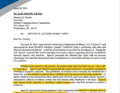 En una presentación a la Comisión Federal de Comunicaciones, SpaceX acusa a su rival de hacer sonar la alarma cuando no había peligro potencial.