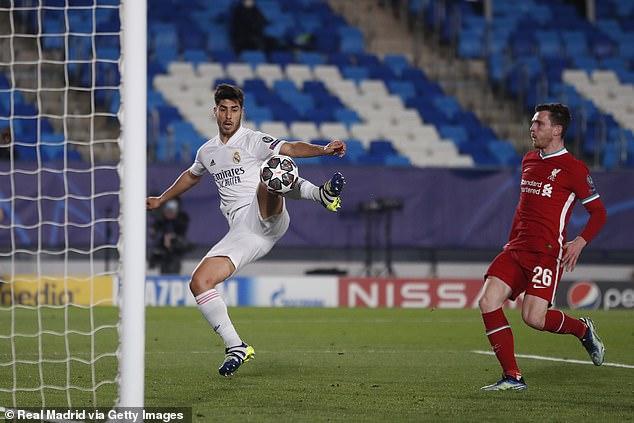 Alexander-Arnold tuvo la culpa del gol de Marco Asensio en la derrota del Liverpool ante el Real Madrid