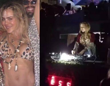 A través de redes sociales se dieron a conocer los videos en los que se ve a la reconocida modelo Natalia París en fiesta electrónica.