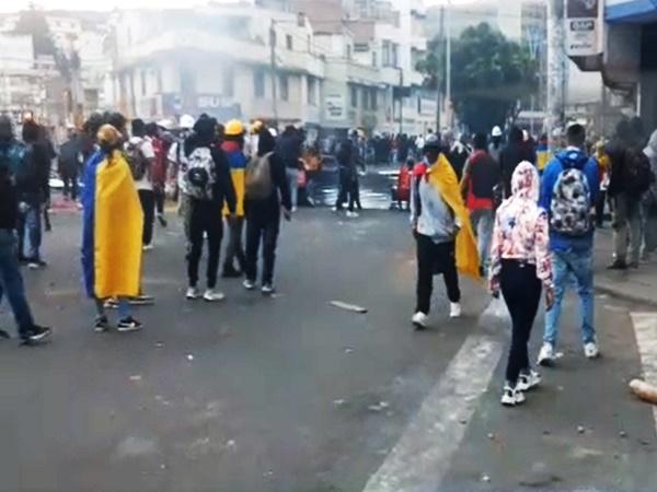 Tensión en Pasto: A esta hora se registran enfrentamientos en zona céntrica de Pasto