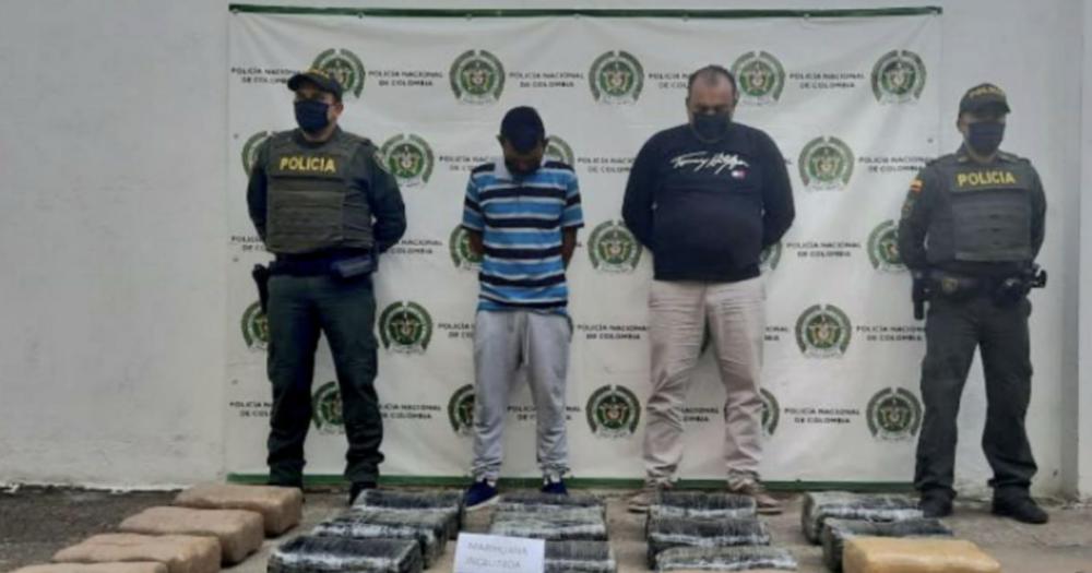 A la cárcel dos presuntos implicados en transporte de más de 100 kilos de estupefaciente en Yaguará