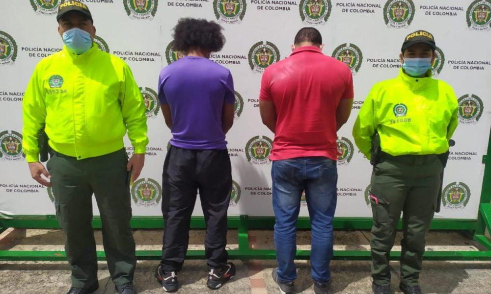 Asegurados dos presuntos integrantes del grupo delincuencial Los Motilones