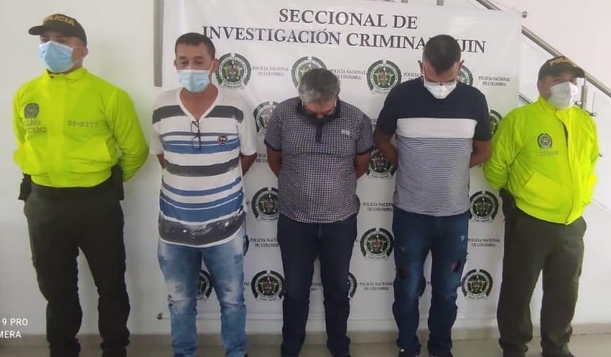 Asegurados tres presuntos integrantes del grupo delincuencial Los Motilones en Cúcuta