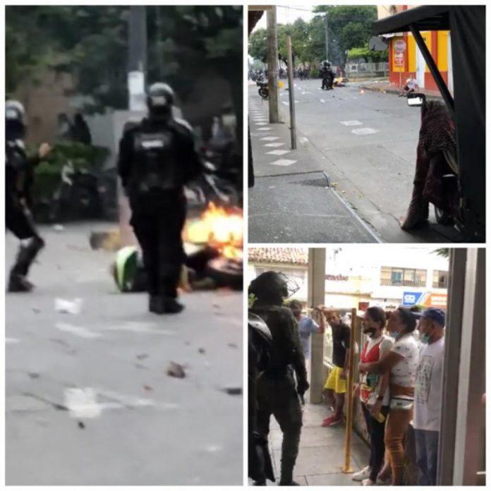 """Disturbios en Cartago, piden al Esmad retirarse de la zona del hospital: """"Los gases afectan a los enfermos"""""""