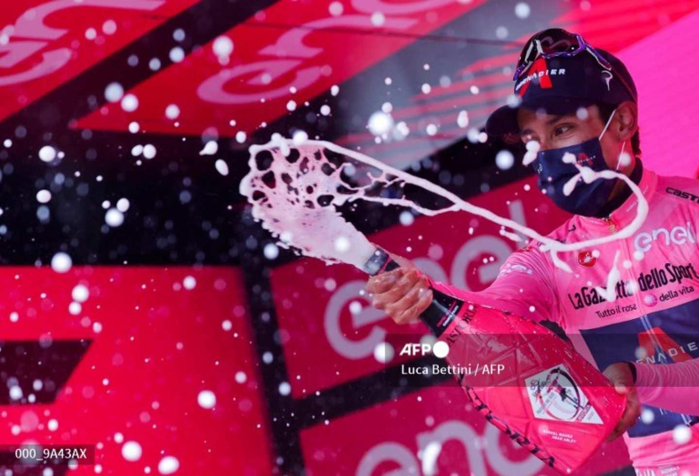Egan Bernal Giro de Italia 2021: la celebración tras ser nuevo líder