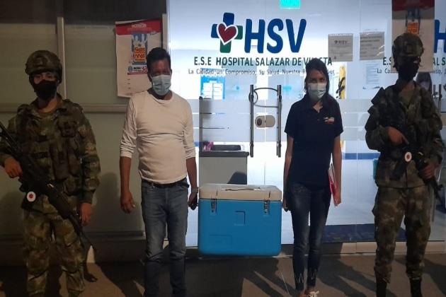 Ejército Nacional escoltó entrega de vacunas Covid- 19 en Cundinamarca
