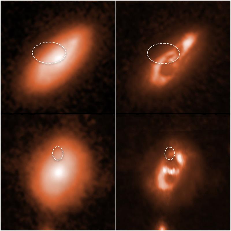 El Telescopio Hubble capta FRB en brazos espirales de las cinco galaxias