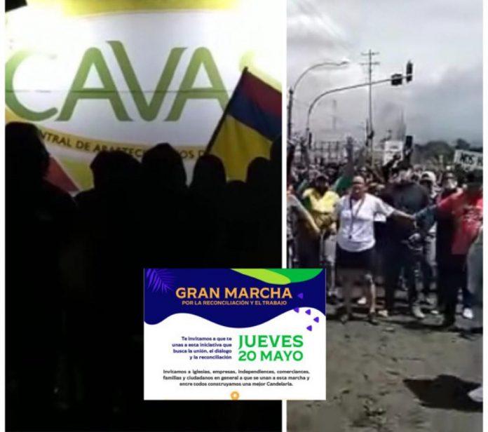 Candelaria bloqueos Valle del Cauca
