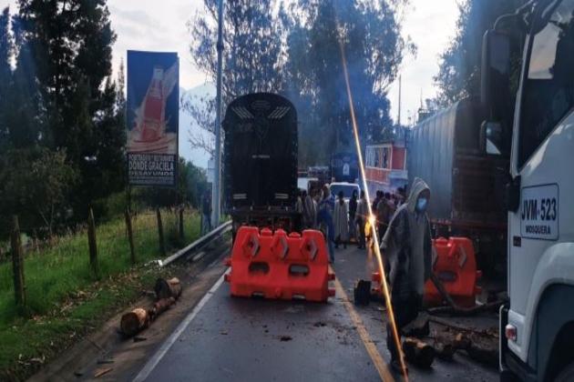 En Cundinamarca persisten 27 puntos de bloqueos a causa del Paro Nacional