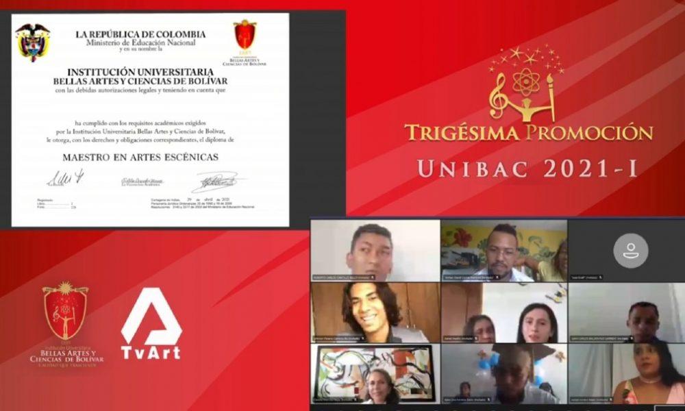 En ceremonia virtual Unibac graduó 125 profesionales