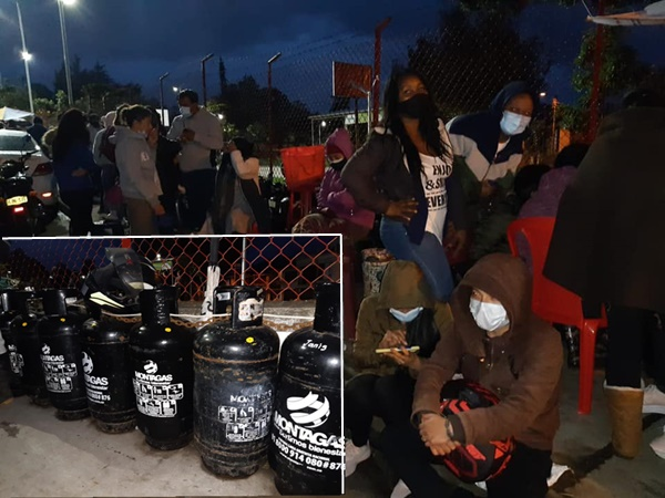 En varios barrios de Pasto llegaron cientos de personas a buscar gas pero el cupo era para 200