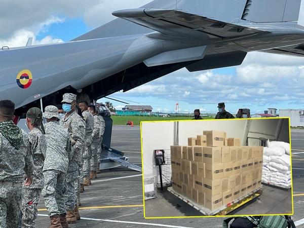 Entregarán de 64 toneladas de ayudas a familias desplazadas por combates