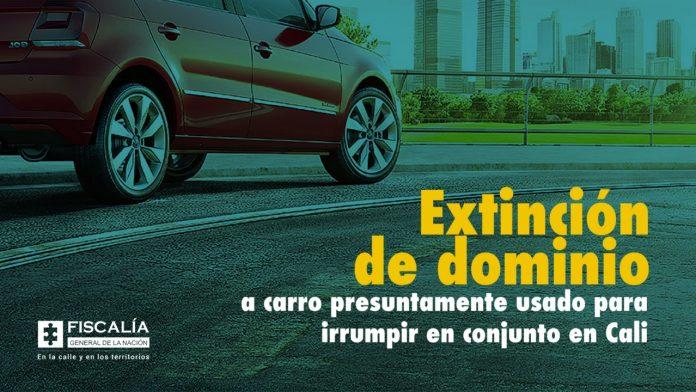 Extinción de dominio a carro presuntamente usado para irrumpir en conjunto en Cali