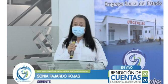 Gerente del Hospital Clarita Santos rindió cuentas