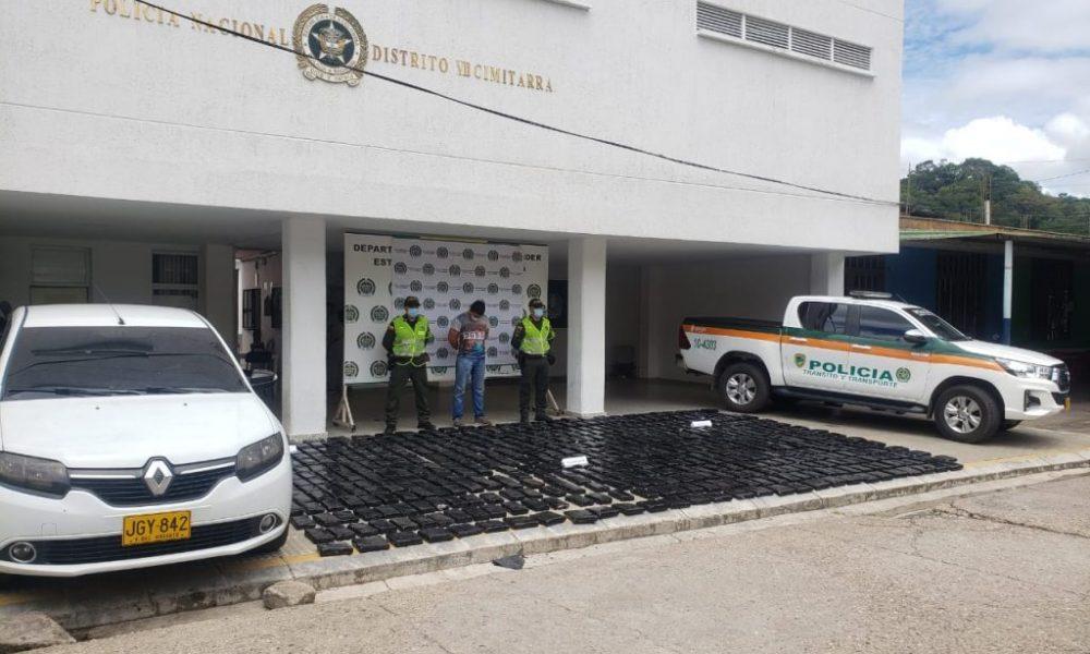 Incautados 554 kilos de marihuana en municipios del Magdalena Medio