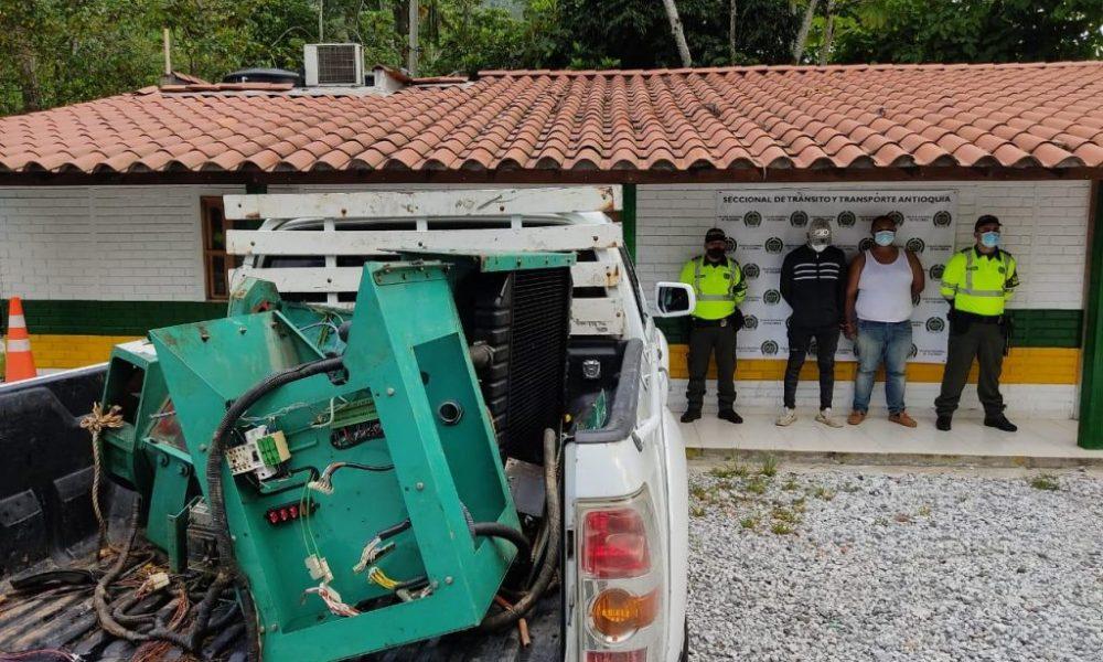 Judicializados dos hombres por el delito de receptación en Puerto Triunfo (Antioquia)