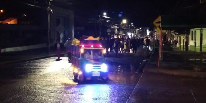 Manifestación en Sandoná a favor del paro nacional