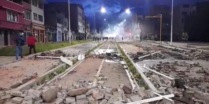 Marcha pacífica en Pasto terminó en disturbios