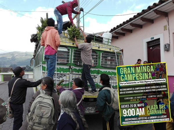 En Minga campesina que participaría con 20 toneladas de alimentos canceló evento, Alcaldía de Pasto les negó el permiso