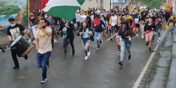 Nueva manifestación en Sandoná en respaldo al comité nacional del paro