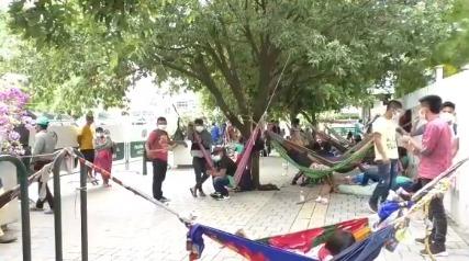 Otras 50 familias indígenas llegaron a Montería para reforzar protesta