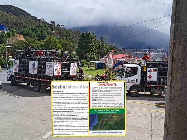 Pasto: empresas sin gas y otras con poca distribución, problemas de suministro se complicó con el paro