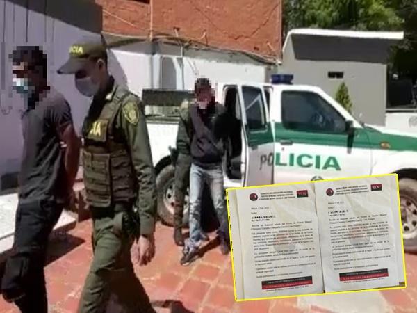 Por terrorismo atraparon a presuntos delincuentes que intimidaban con panfletos en Nariño