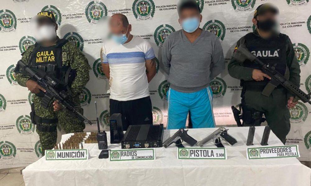 Privados de la libertad dos hombres por porte ilegal de armas en Tumaco (Nariño)