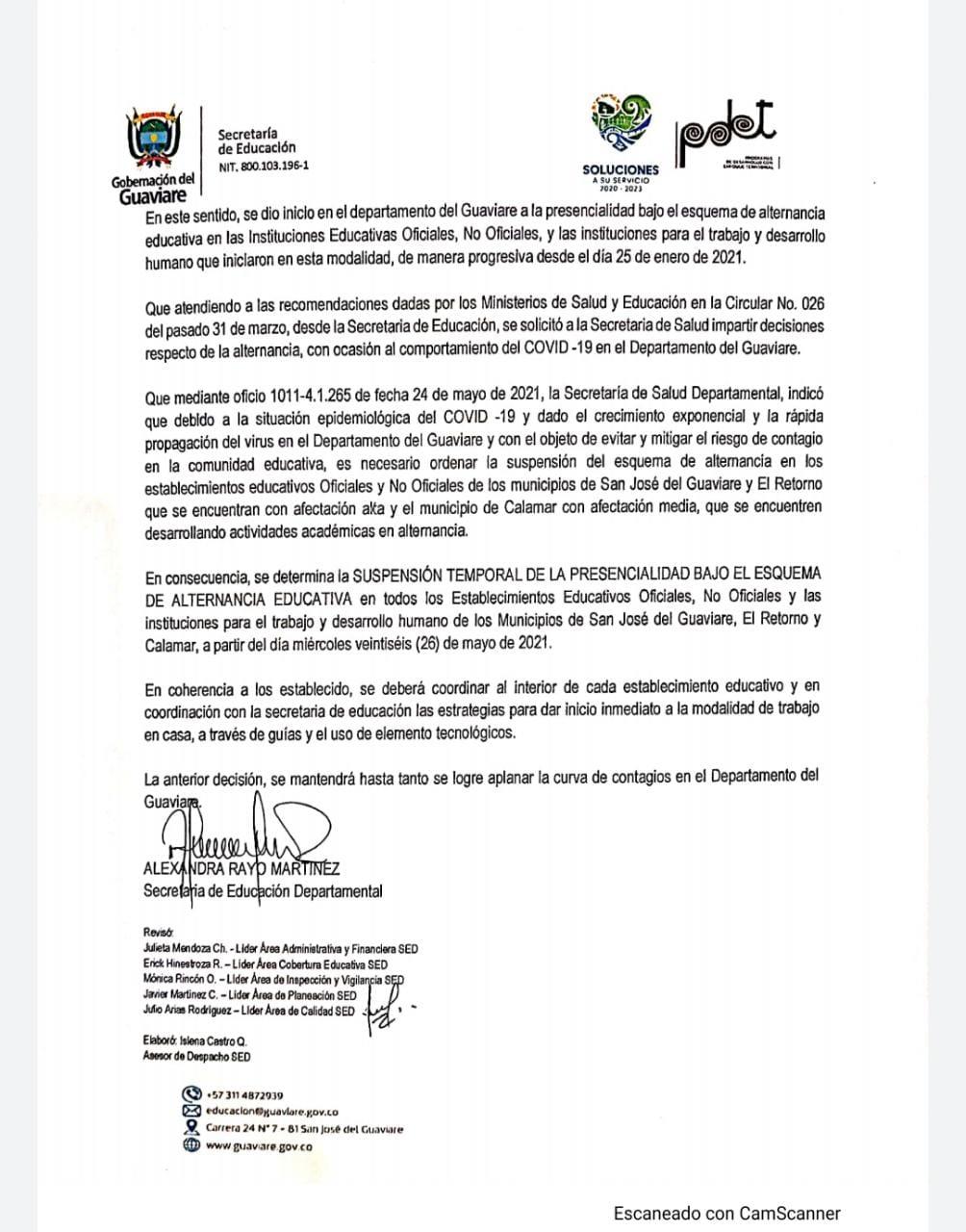 Suspenden clases de alternancia en siete instituciones de Guaviare