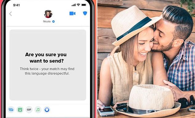 Tinder lanzó una nueva función el jueves diseñada para detener el acoso antes de que comience, conocida como ¿Estás seguro?