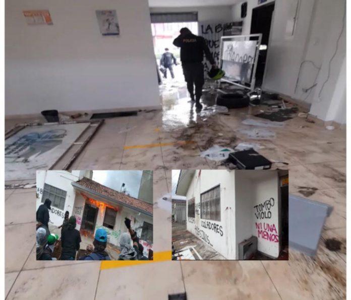 Viernes de fuertes disturbios en Popayán, la furia por el caso Alison ya deja daños y heridos