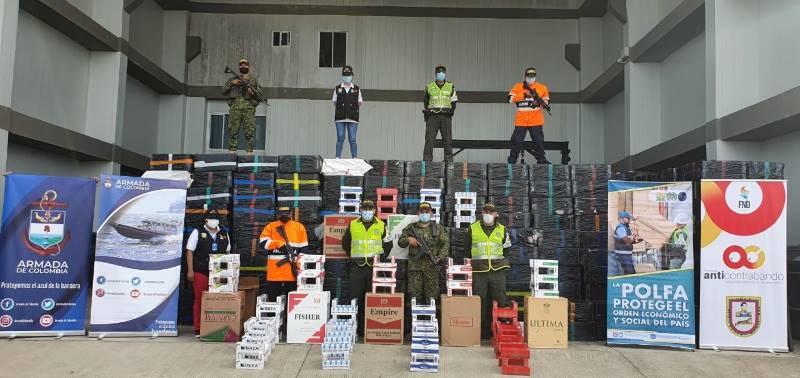 Desarticulación de una organización criminal dedicada al dedicada al tráfico internacional de cigarrillos