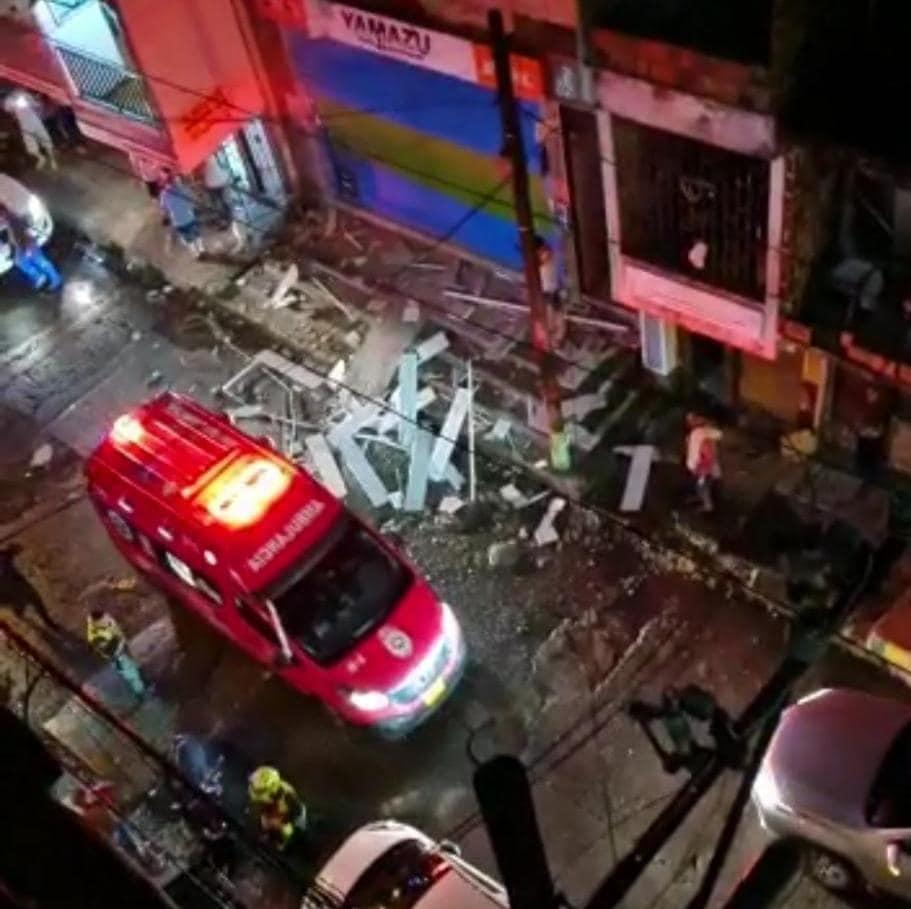 8 heridos por explosión de un petardo reconocido almacén de motos en Buenaventura