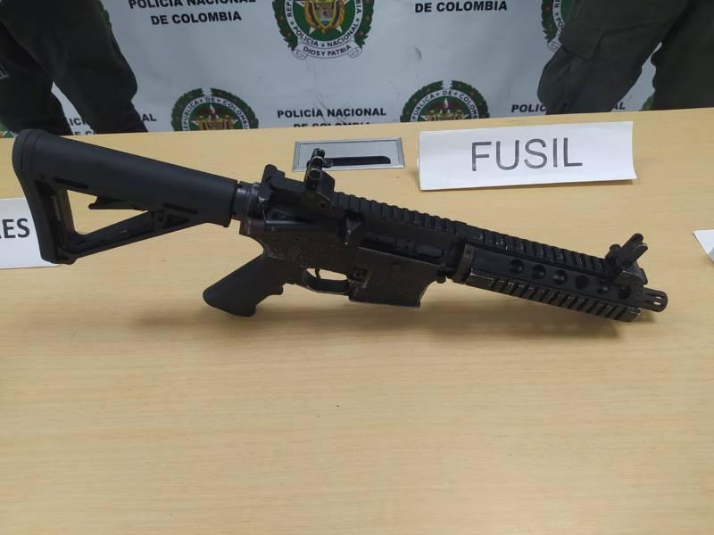 Policía Nacional realizó la incautación de una granada de fragmentación y un fusil en Buenaventura