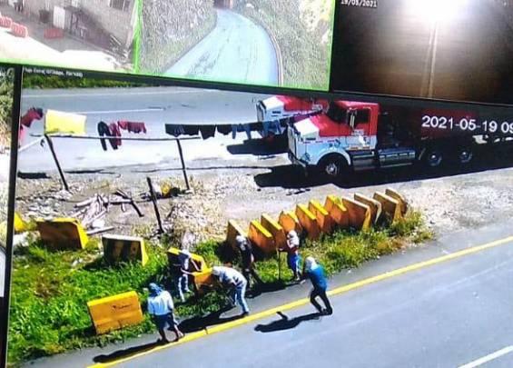 Ocho túneles de la ruta Cisneros - Buenaventura fueron vandalizados