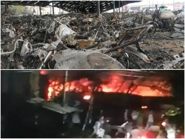 """""""¿Quién responde?"""" por los cerca de 3.000 vehículos quemados en los patios de Tránsito en Candelaria"""