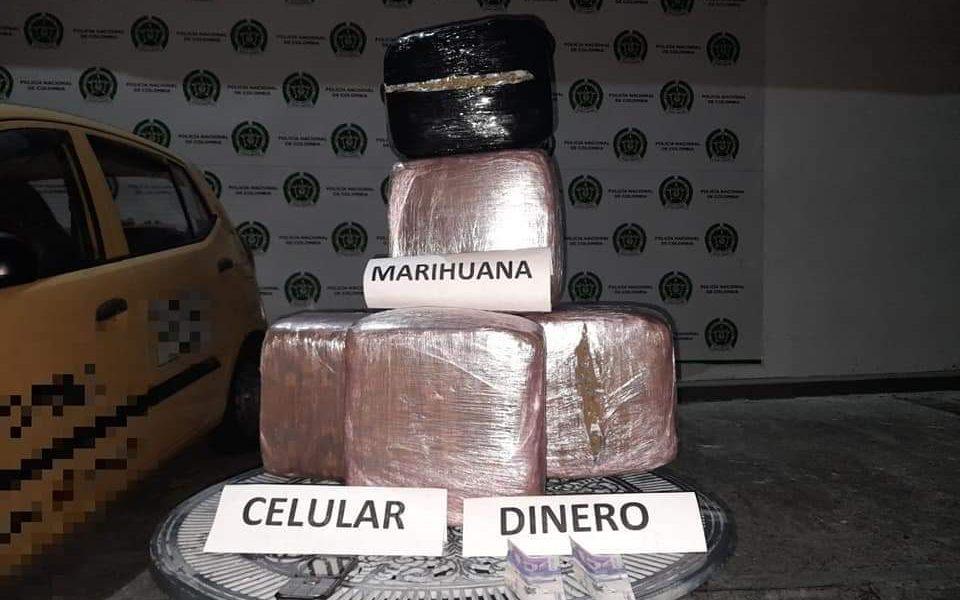 A la cárcel tres personas por presunto transporte de 33 kilos de marihuana
