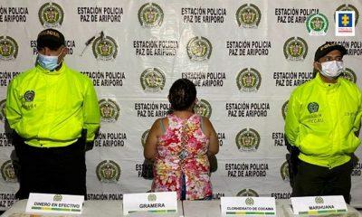 A la cárcel una mujer que al parecer estaba dedicada al tráfico de estupefacientes en Paz de Ariporo (Casanare)