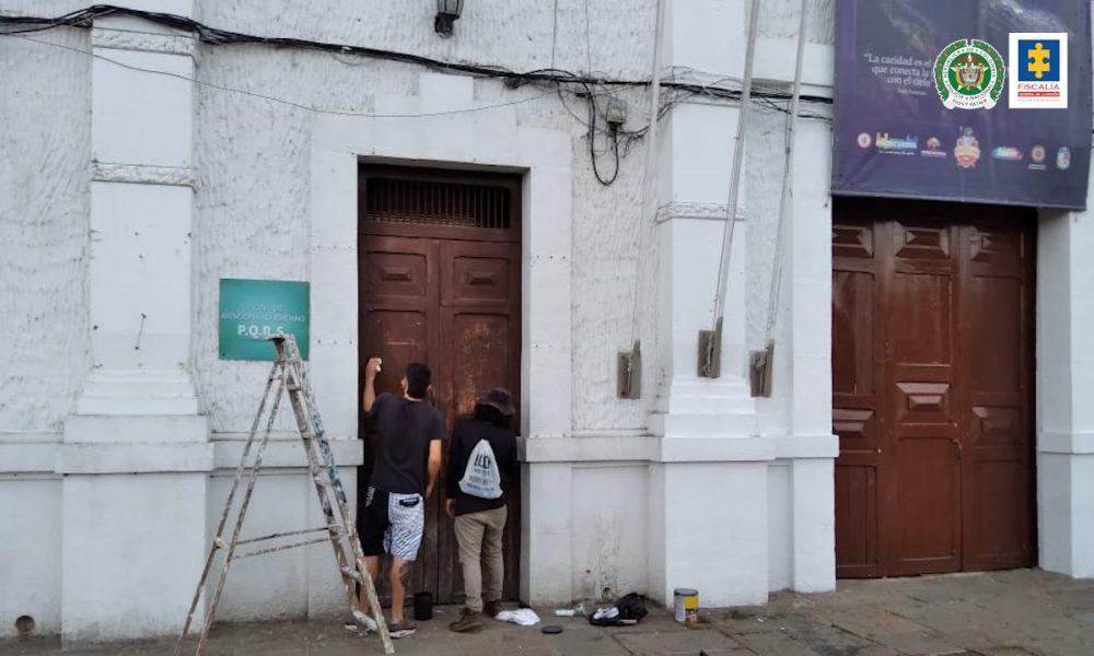 Acto público de reparación y reconciliación por actos de vandalismo en Piedecuesta (Santander)