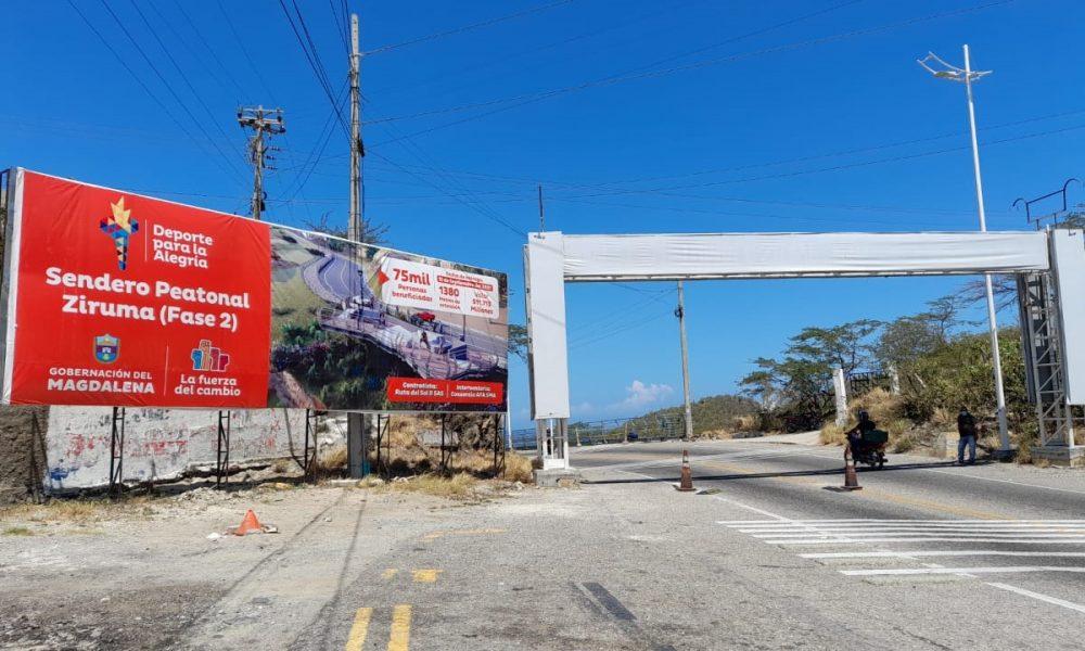 Alcaldesa inspeccionó obras del sendero peatonal Ziruma fase 2