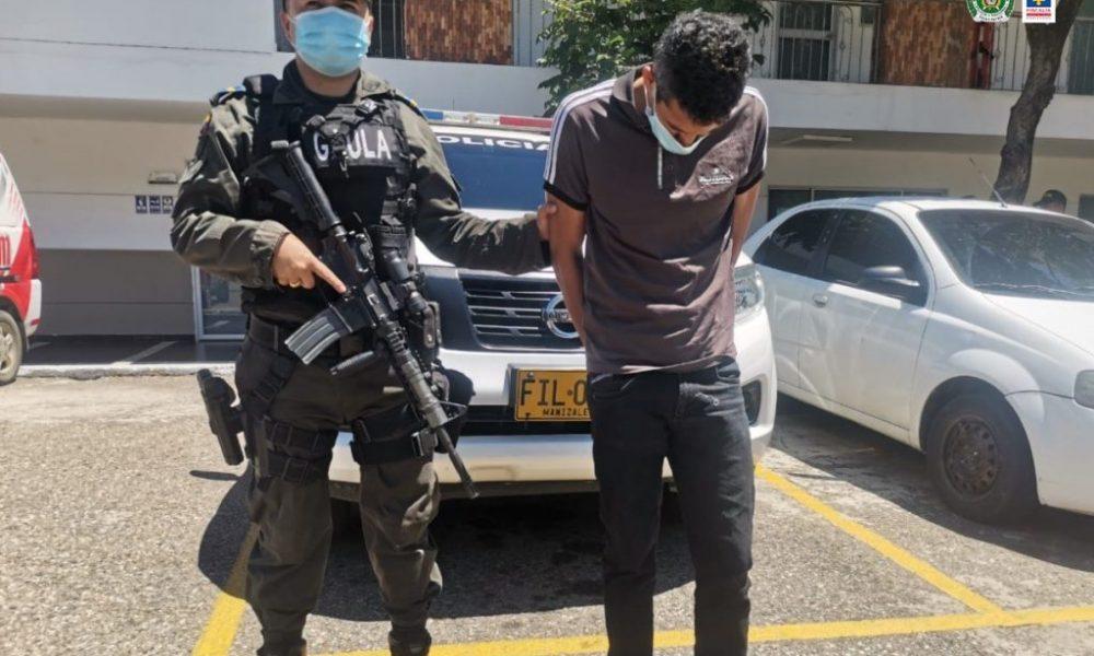 Asegurado presunto integrante del grupo armado organizado Los Rastrojos, por su presunta responsabilidad en el delito de extorsión